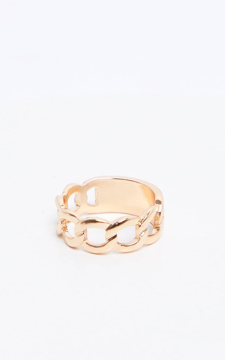 Gold Chain love Ring  3