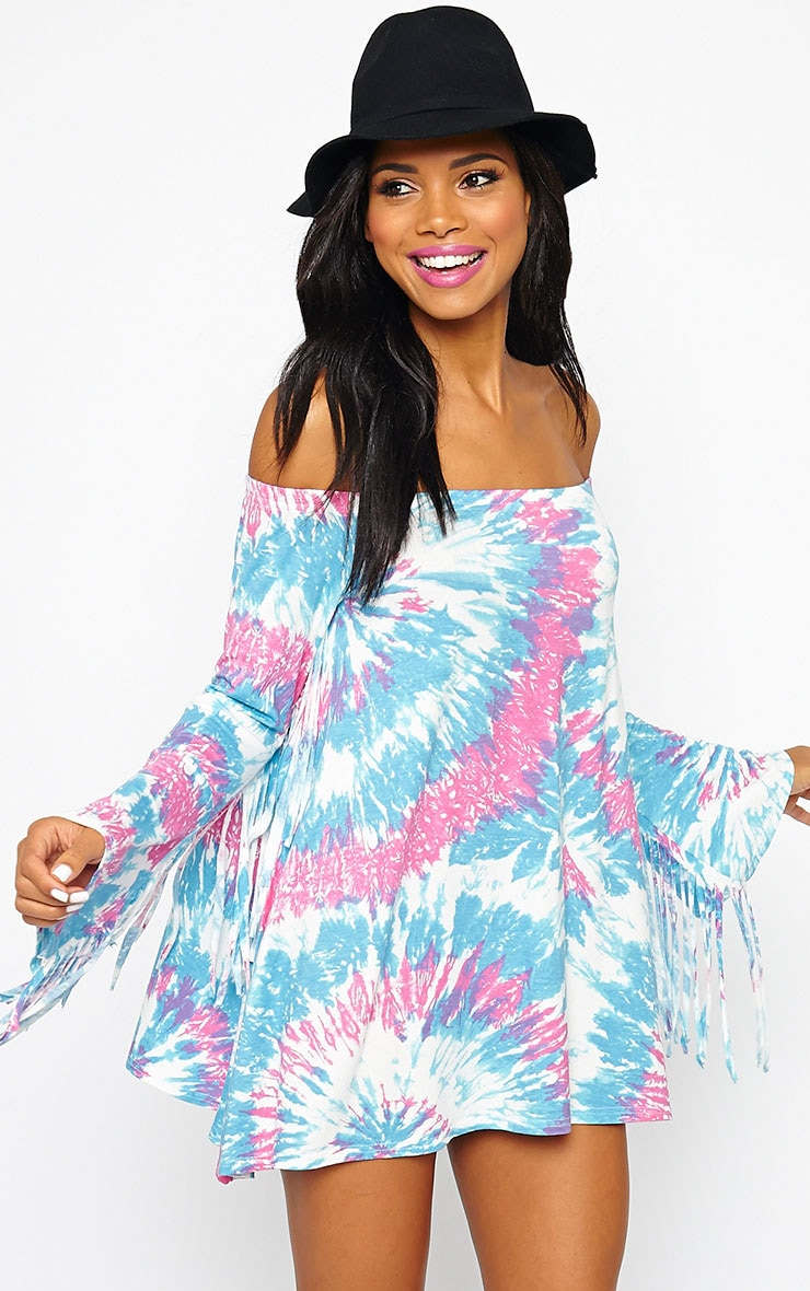 Danni Tie Dye Bell Sleeve Dress 1