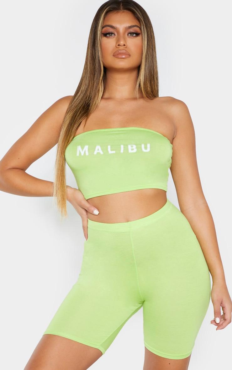 Lime Malibu Slogan Bandeau  1