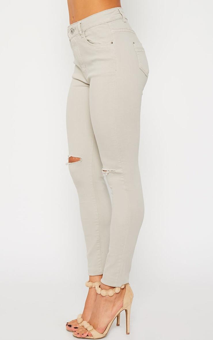 Bonita Stone Knee Slit Skinny Jean 3
