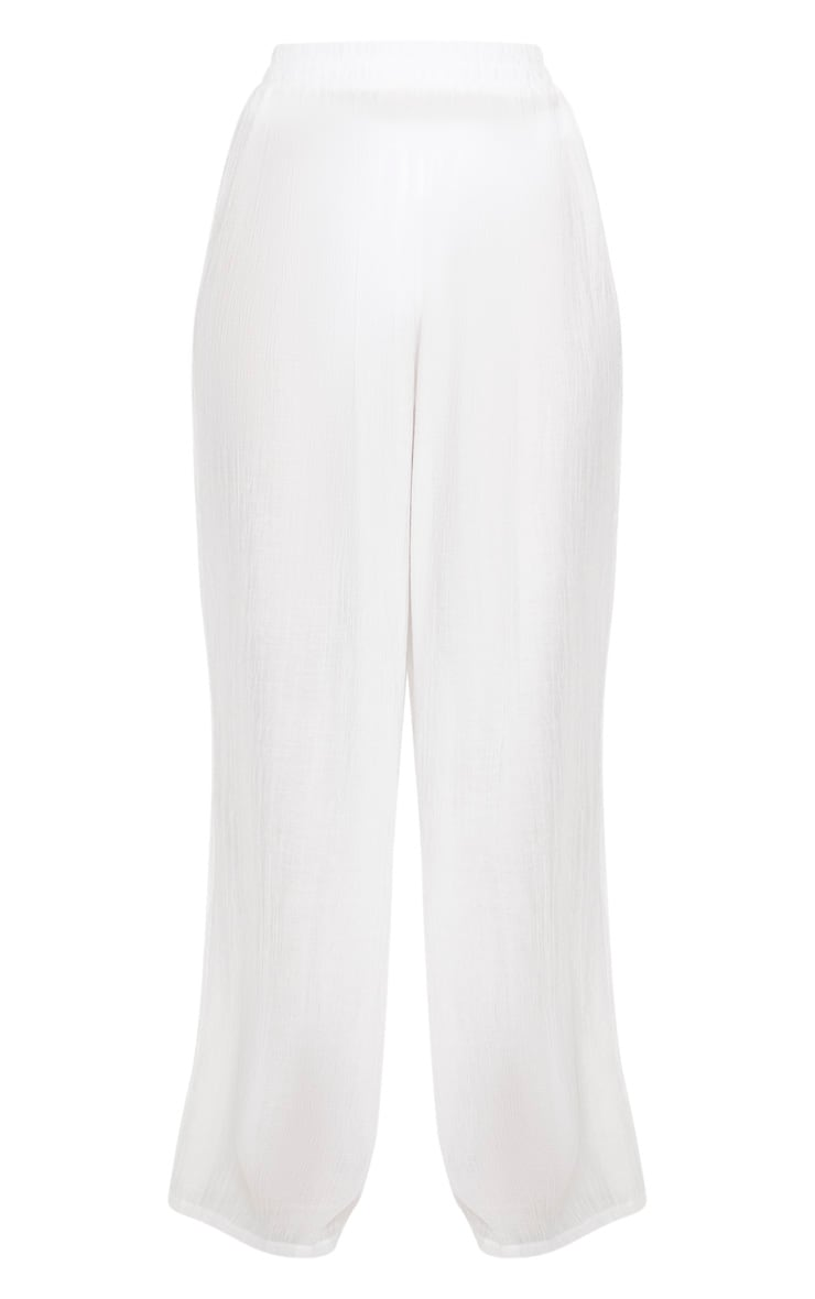Ecru Wide Leg Beach Floaty Trouser 3
