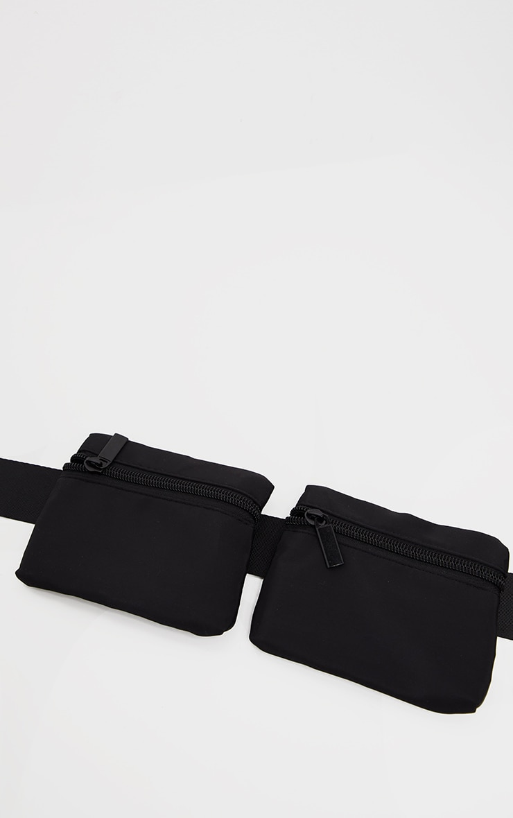 Black Nylon Multi Pouch Harness Bag 3