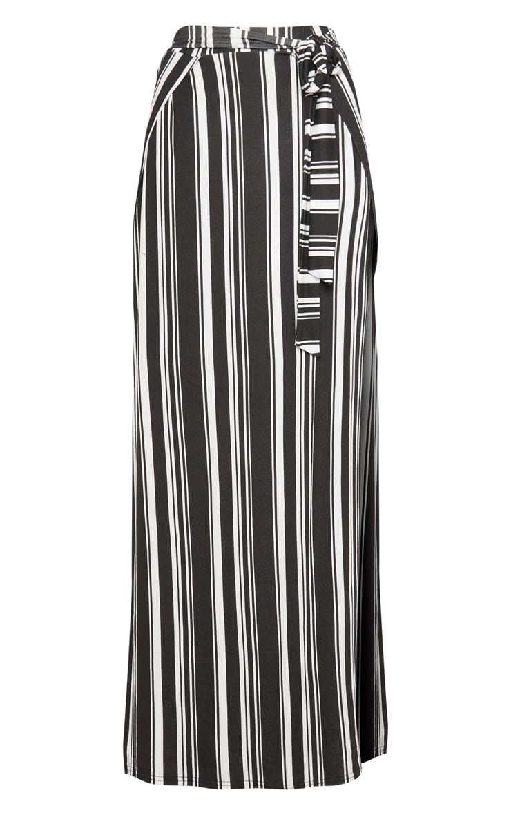 Black Jersey Extreme Split Maxi Skirt 3