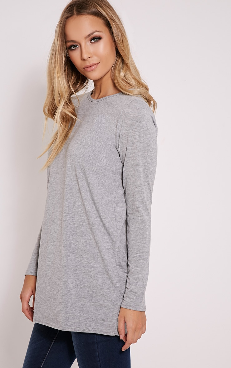 Basic Grey Raglan Sleeve Jersey Top 4
