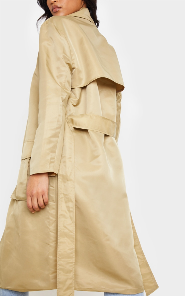 Stone Nylon Belted Trench 5