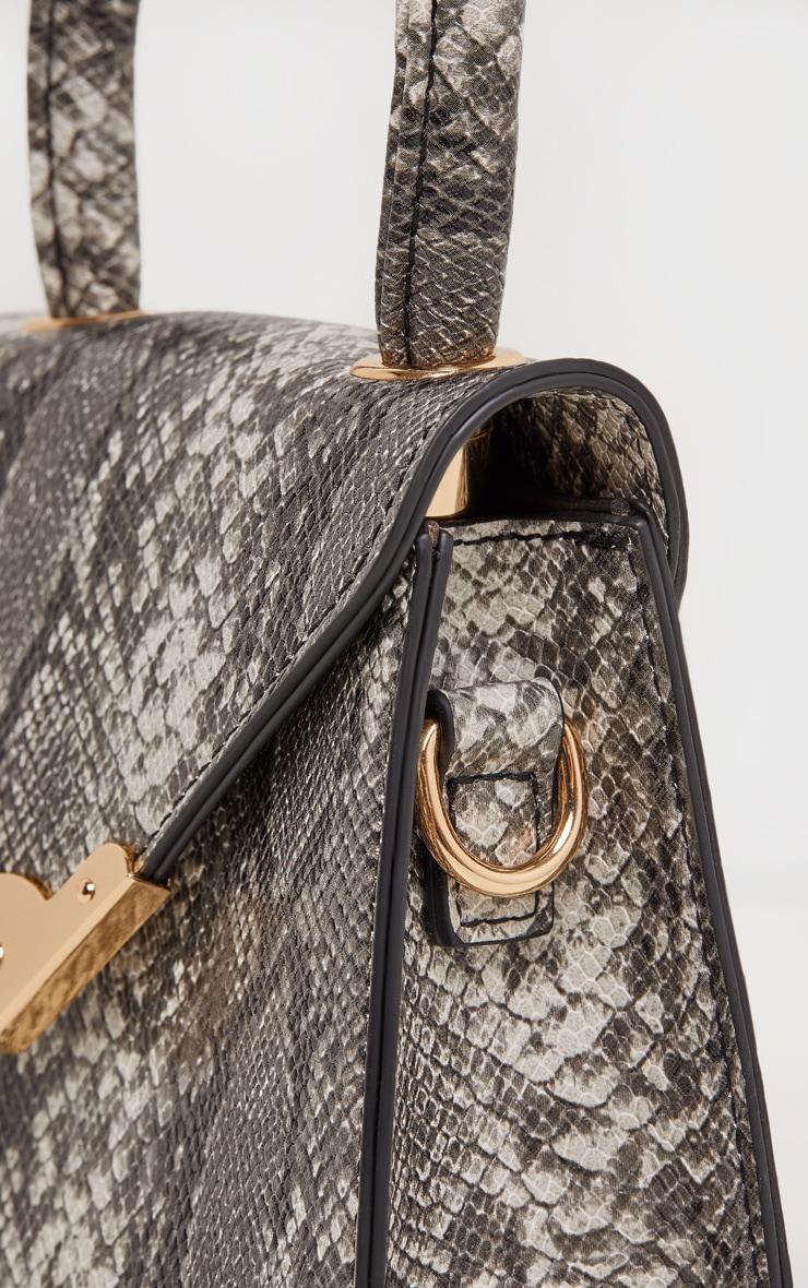 Grey Snake Envelope Mini Bag 5