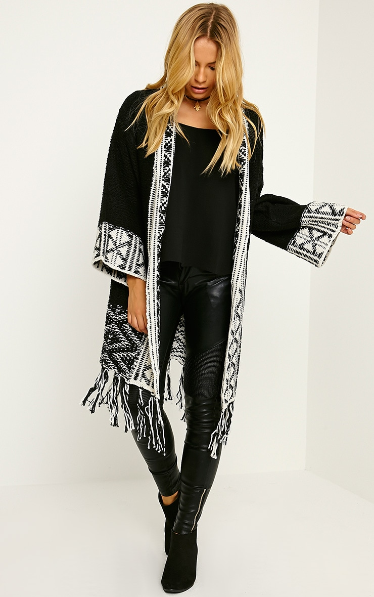 Eilysh Black Heavy Knit Cardigan 1