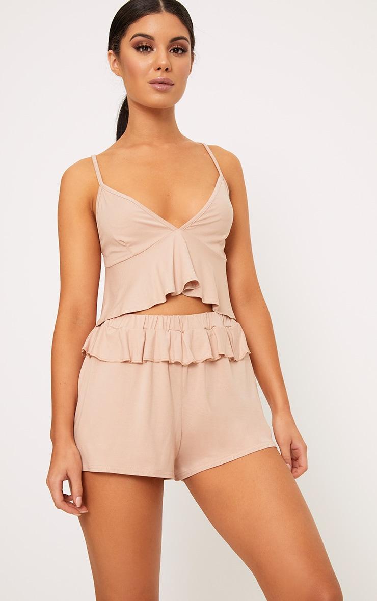 Nude Frill Detail Nightwear Set 1