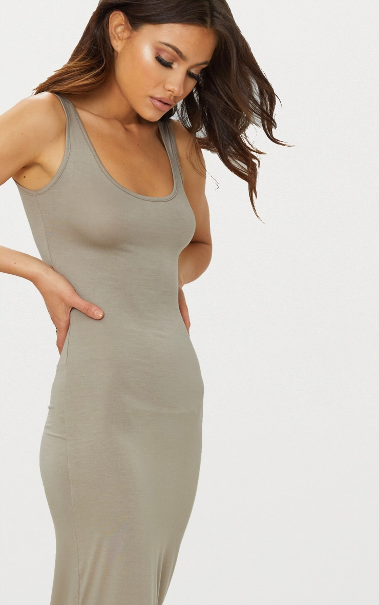 Taupe Basic Maxi Dress 5