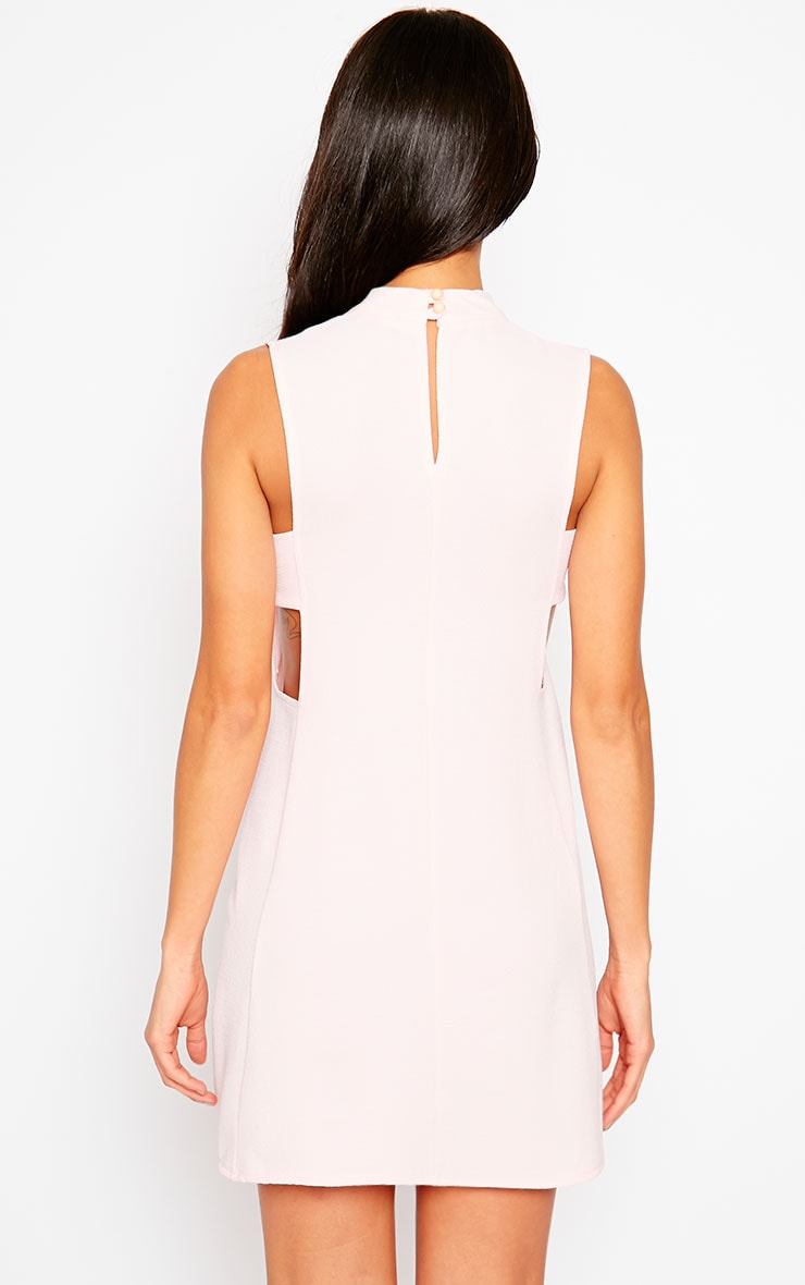 Rina Blush Cut Out Tabard Dress 2