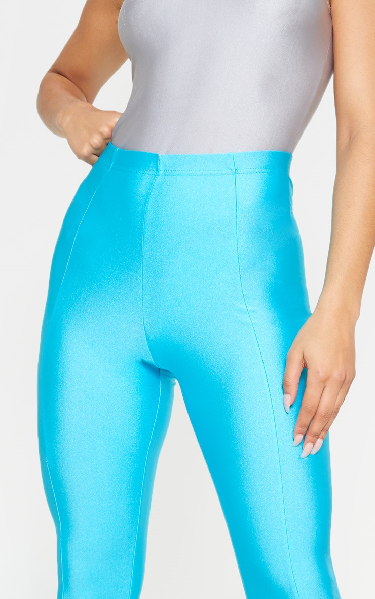 Blue Front Seam Disco Legging 5