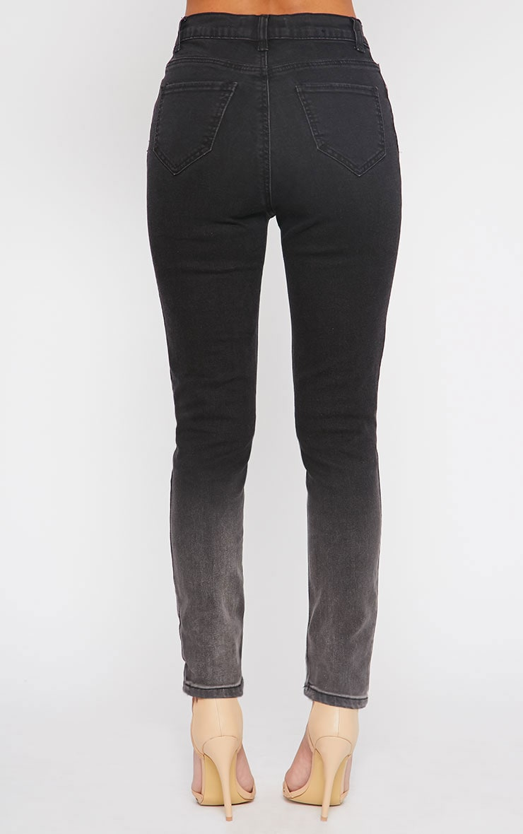 Bonnie Charcoal Mid Rise Ombre Skinny Jean 4