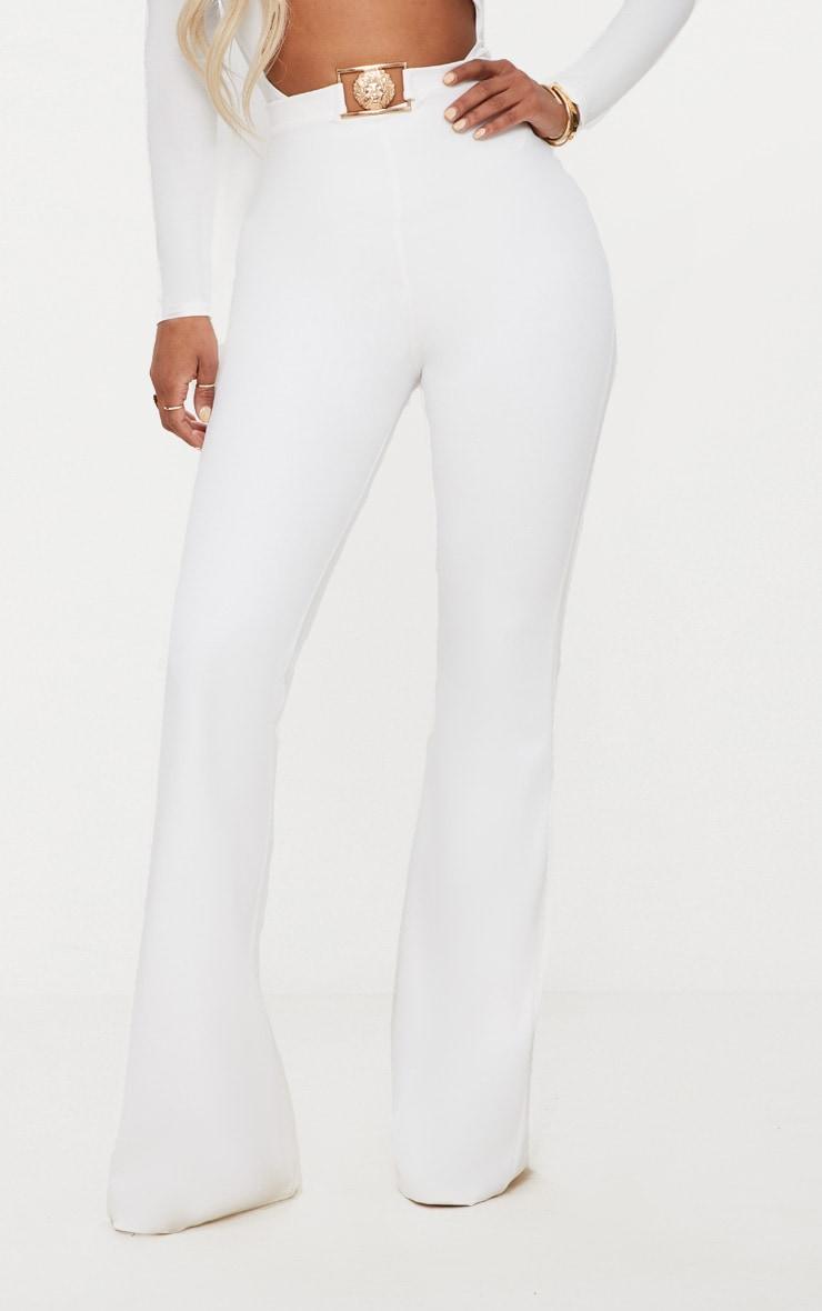Shape White Lion Trim Wide Leg Trousers 2
