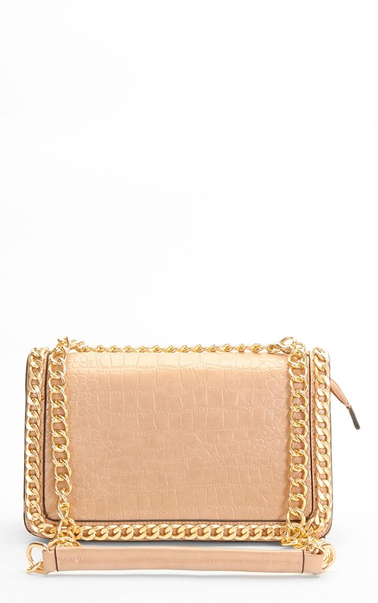 Ophelia Beige Chain Detail Bag 1