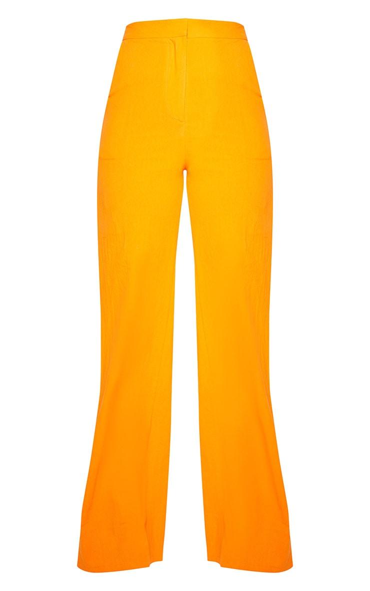 Tall Orange Wide Leg High Waist Pants 3