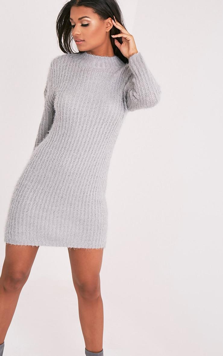 Gordania robe pull en mohair surdimensionnée grise 1