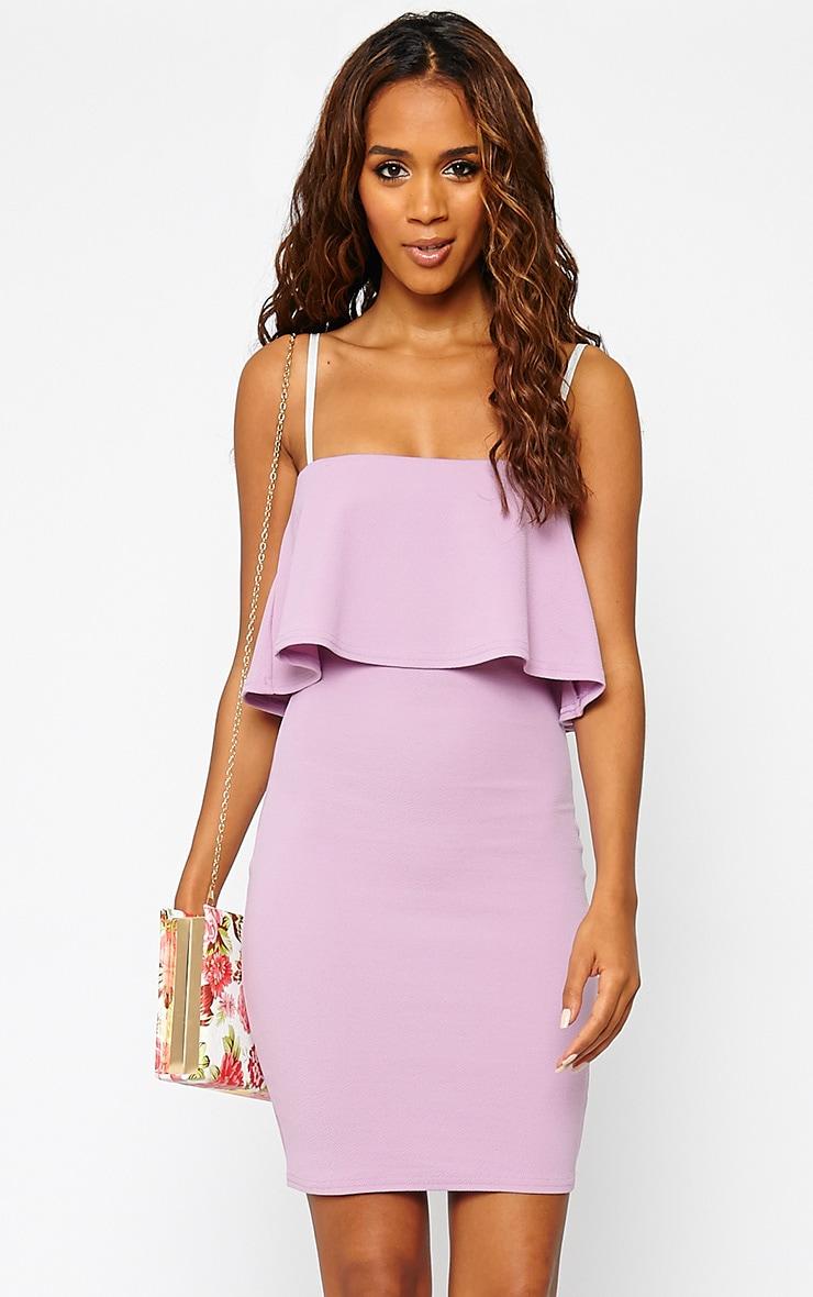 Hari Mauve Frill Front Mini Dress 1