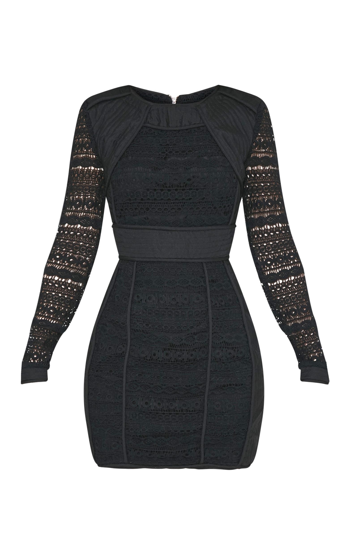 Cataleena Premium robe moulante en dentelle noire 3