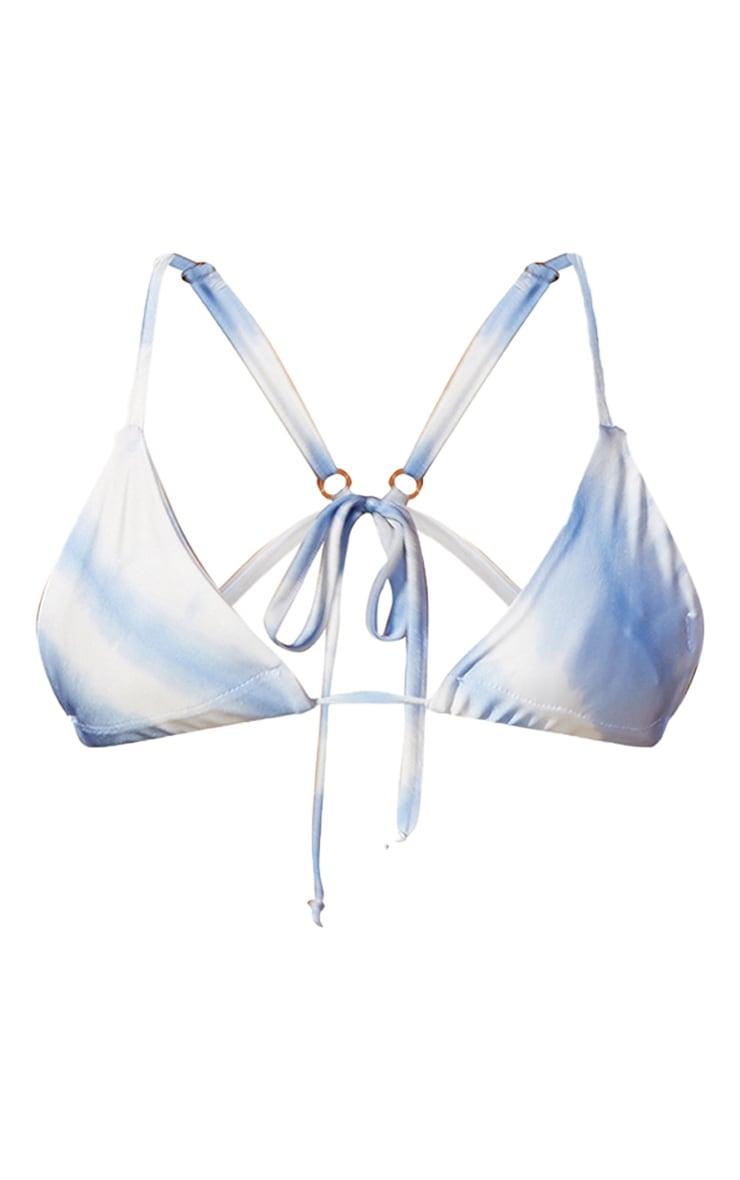 Blue Tie Dye Triangle Bikini Top 6