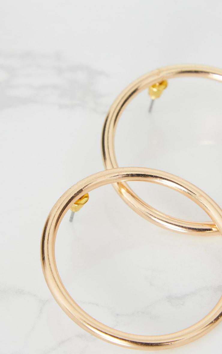 Gold Thin Hoop Stud Earrings 4