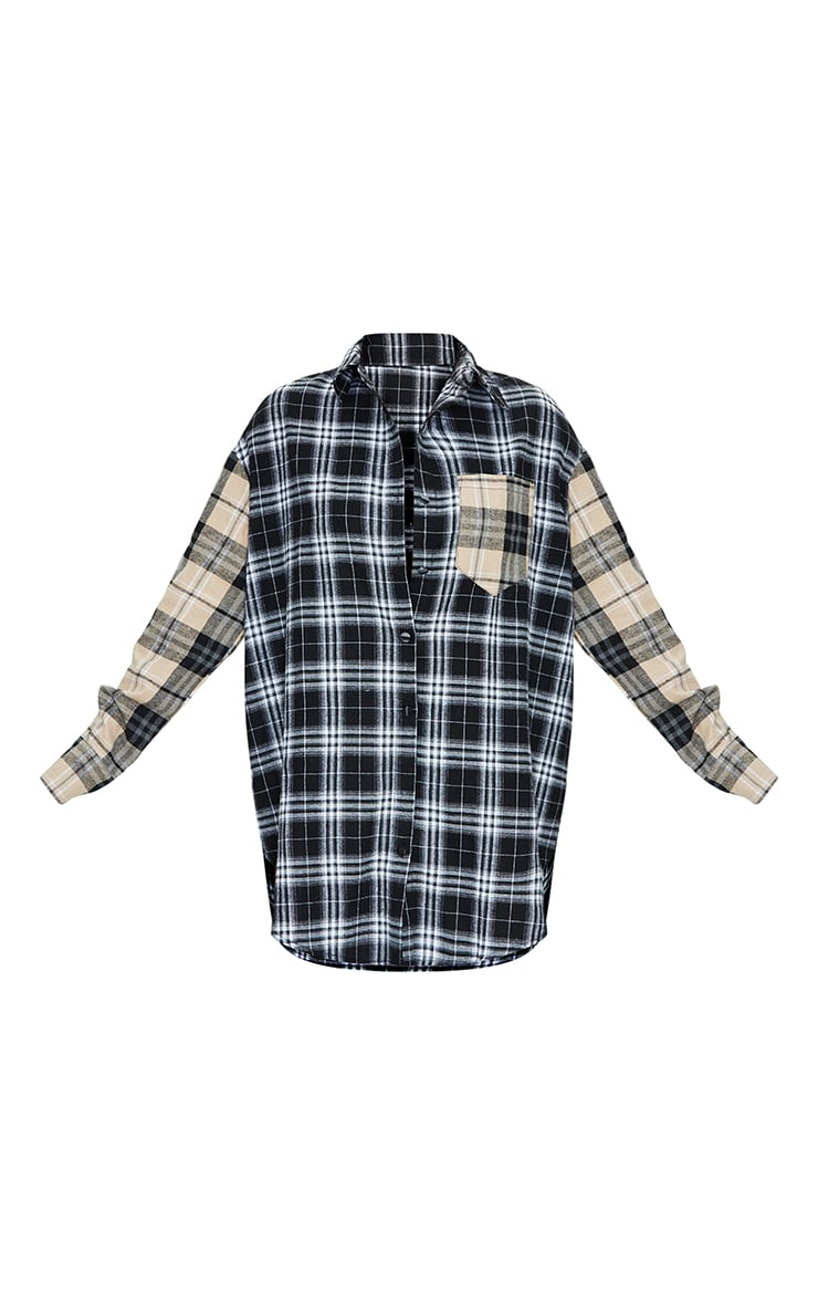 Stone Contrast Check Shirt Dress 5