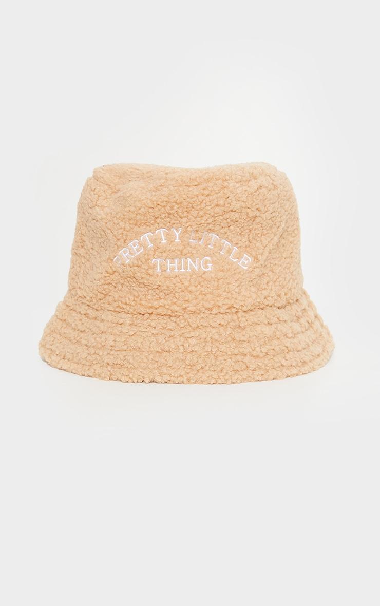 PRETTYLITTLETHING Tan Borg Bucket Hat 2