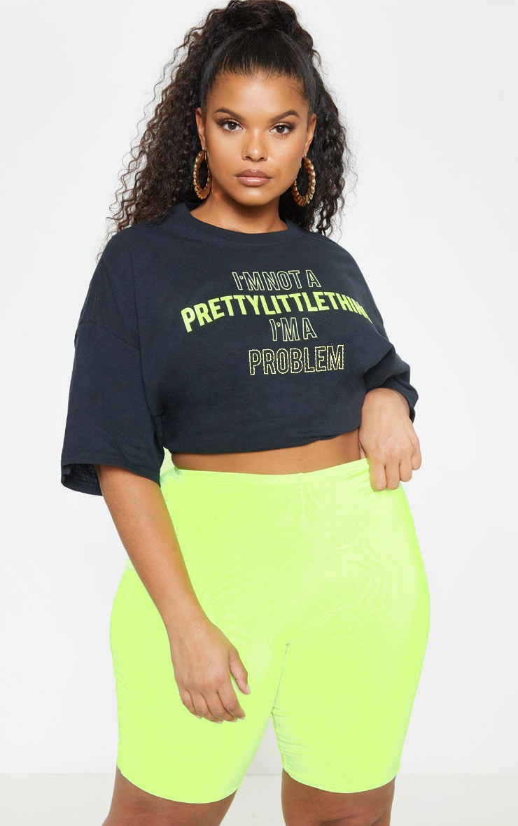 Plus Neon Lime Bike Shorts 2