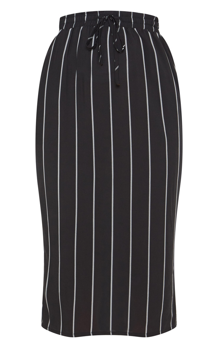 Black Casual Midi Skirt 3