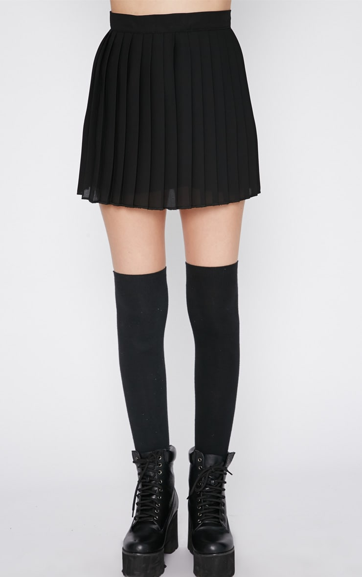 Sinopa Black Pleated Mini Skirt 4