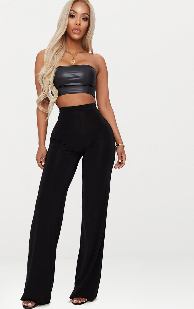 Shape Black Slinky Wide Leg Pants 1
