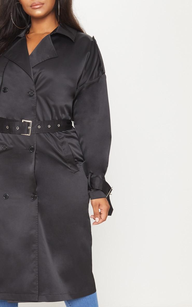 Plus Black Trench Coat 5