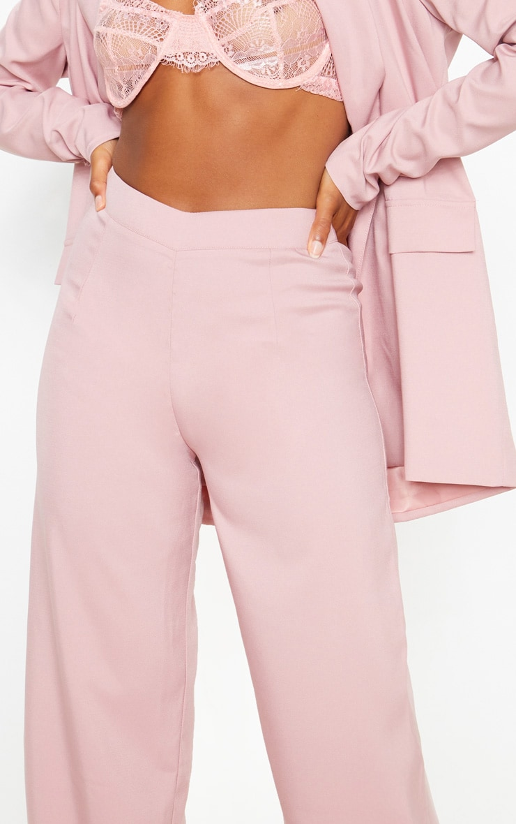 Dusty Rose Wide Leg Suit Pants 5