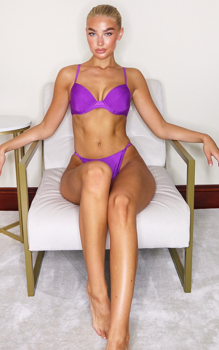 Purple Mix & Match Push Up Cupped Bikini Top 3