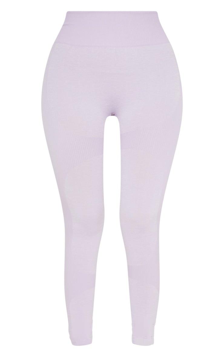 Lilac Seamless 2 Tone Contour Legging 3