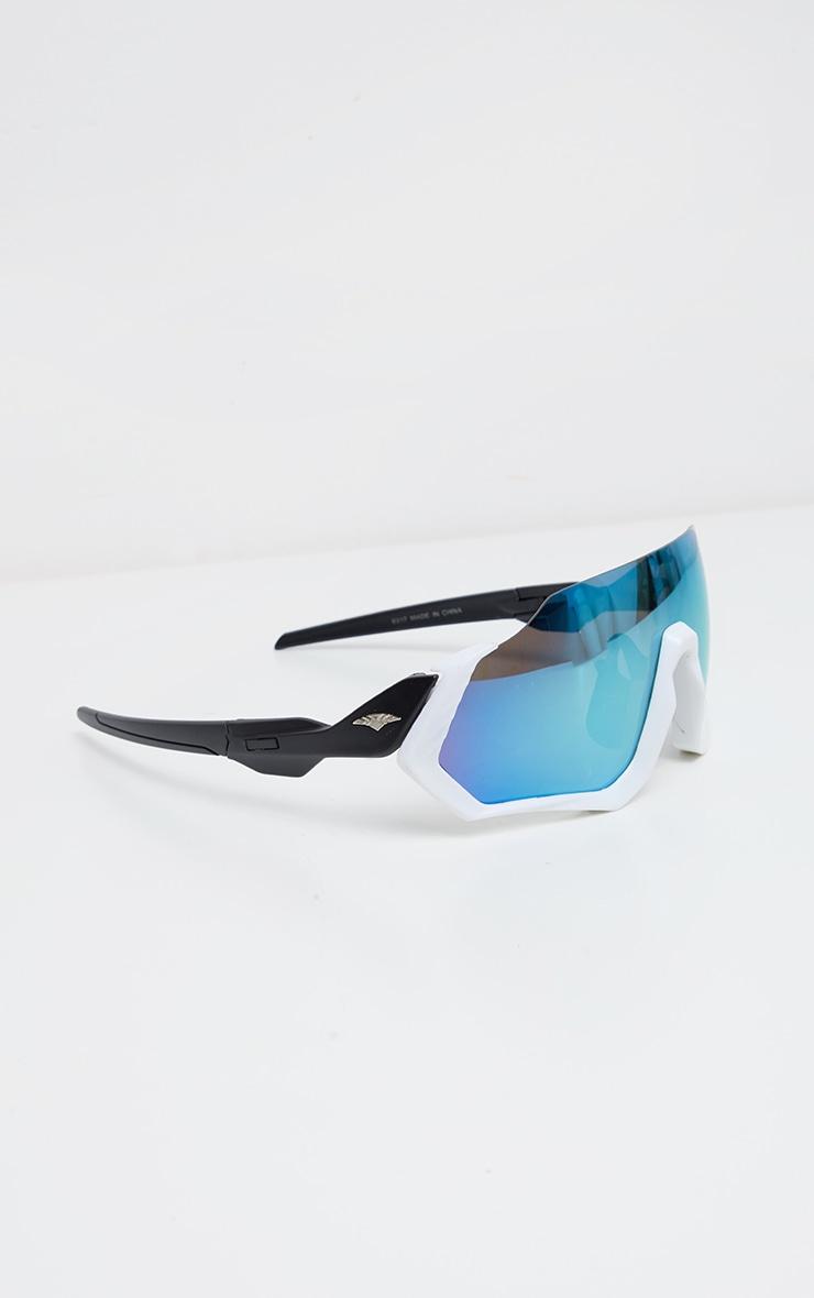 White Revo Lens Sunglasses 2