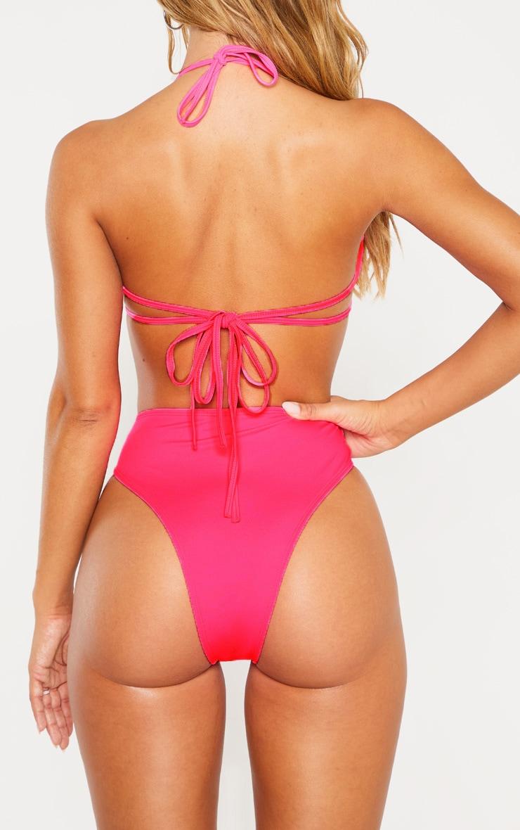Hot Pink High Waisted Cheeky Bum BikiniBottom 4