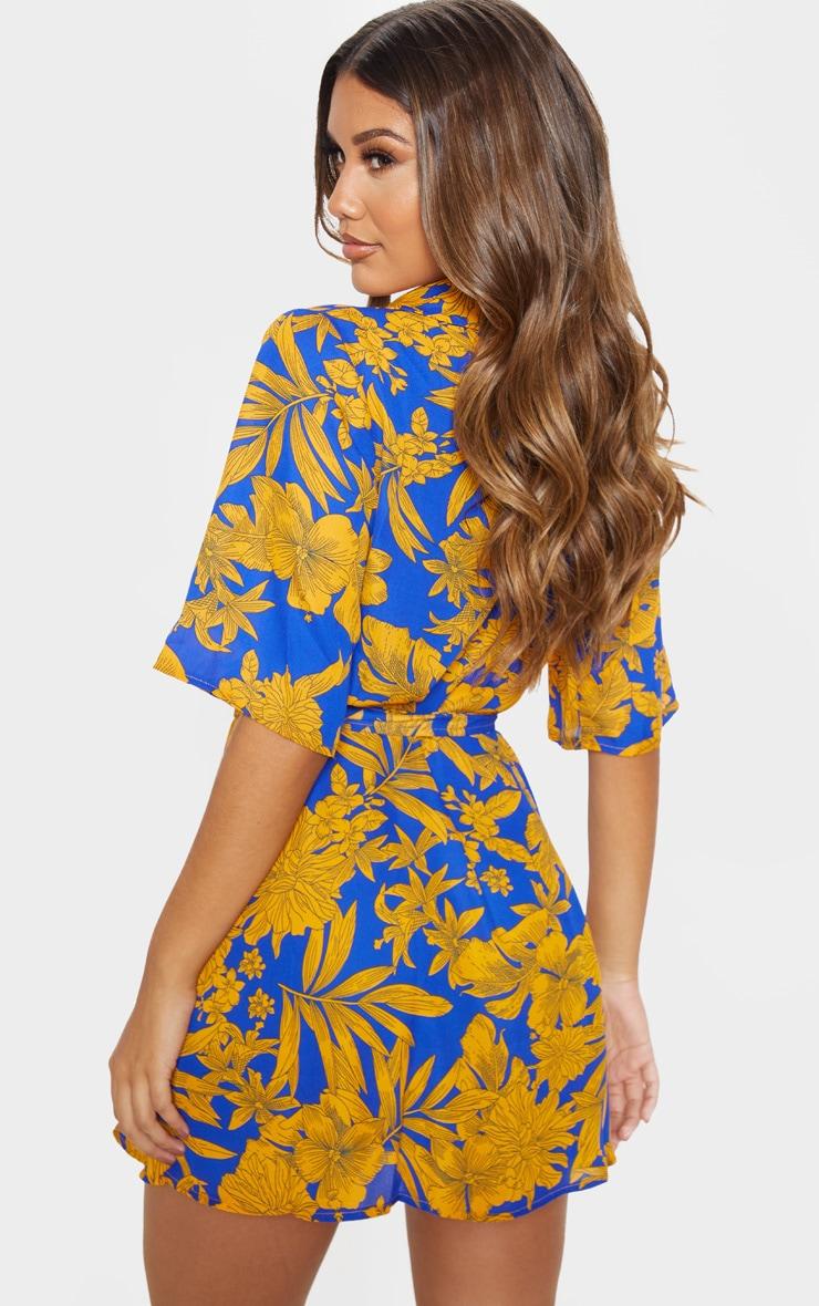 Cobalt Tropical Tea Dress 2