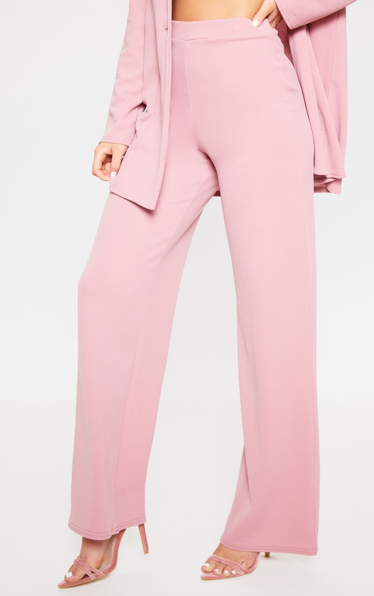 Pink Wide Leg Suit Pants 3