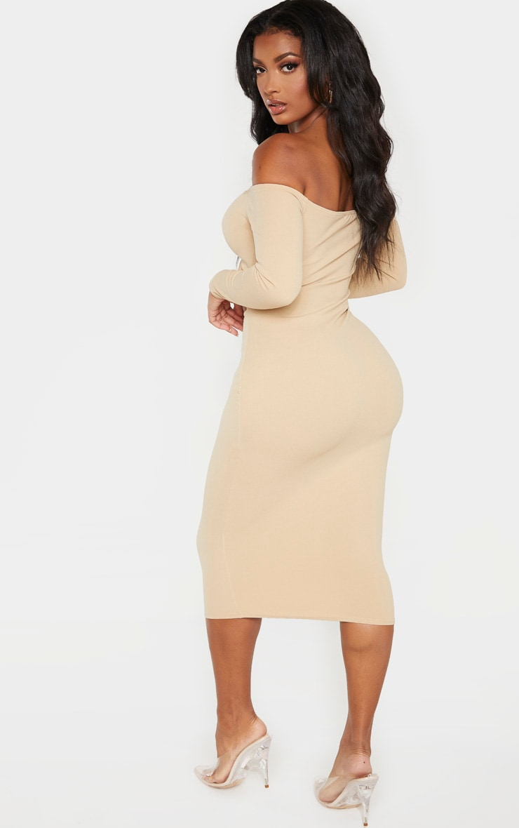 Shape Stone Cut Out Ruched Front Midi Dress 2