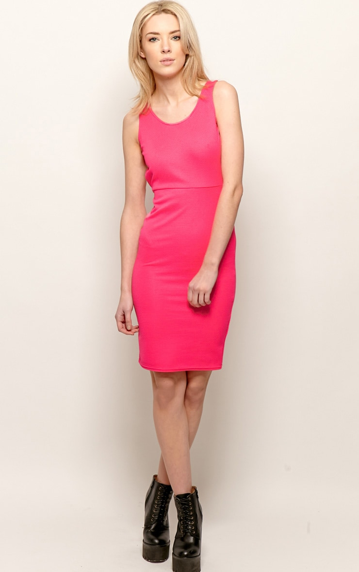 Zelia Fuchsia Backless Dress 4