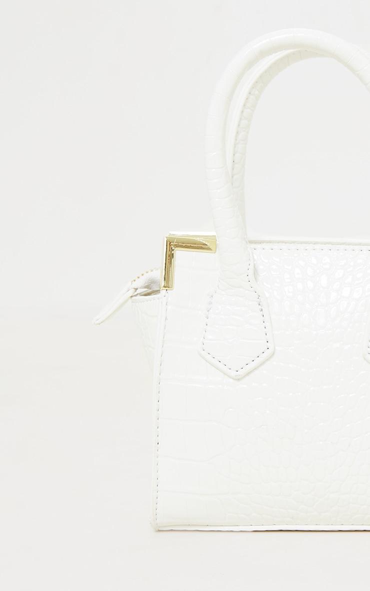 White Croc Mini Grab Bag 3