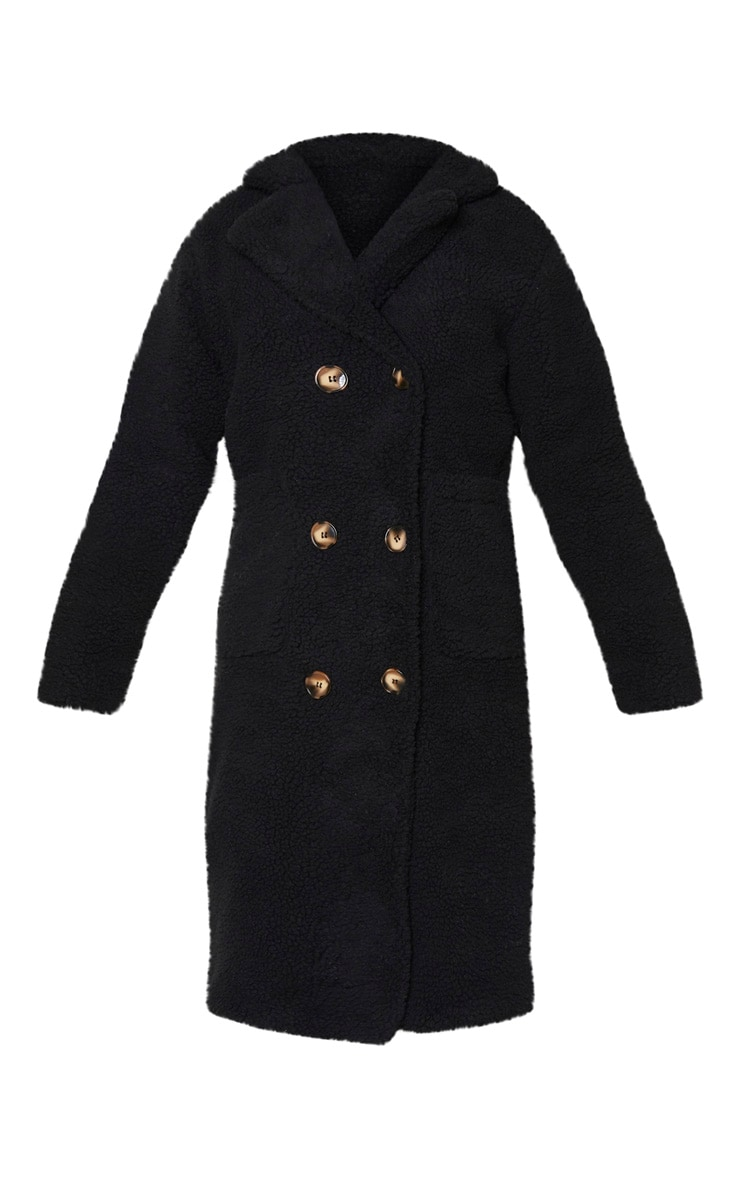 Tall Black Borg Midi Coat 3