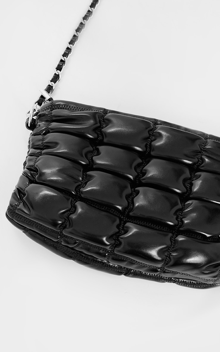 Black Quilted Cross Body Bag 2
