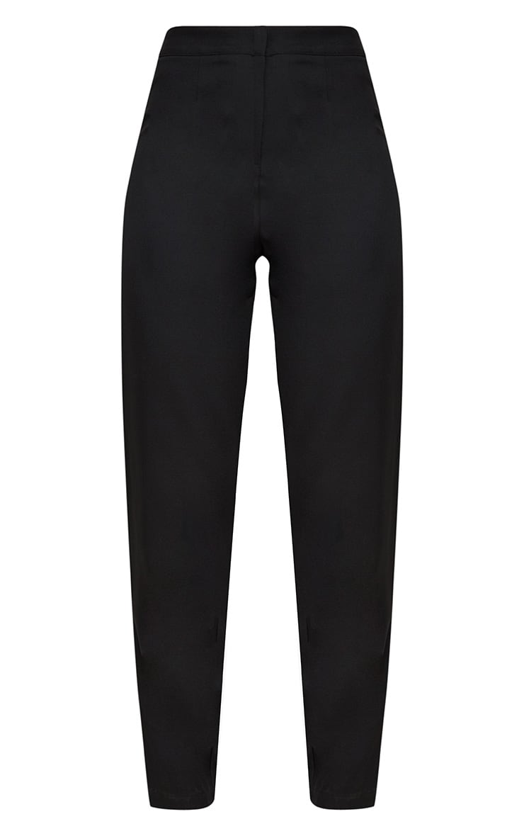 Black Straight Leg Tailored Trousers 3