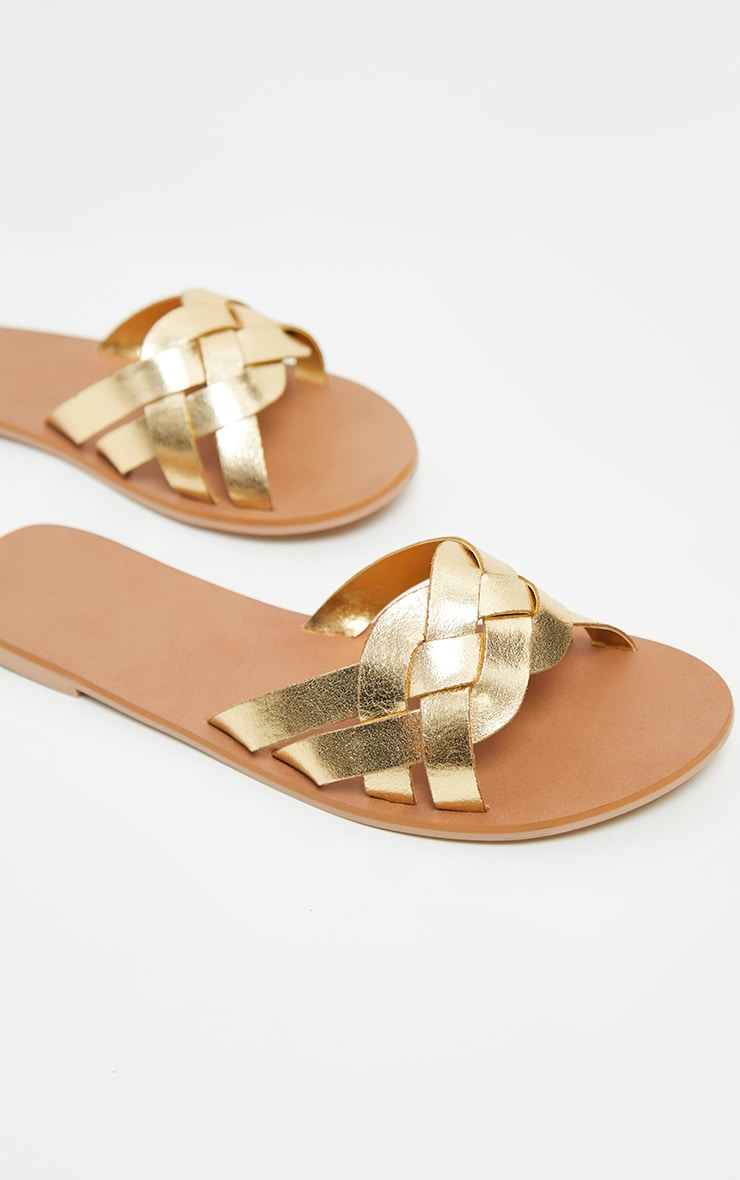 Gold Platted Mule Sandal 3