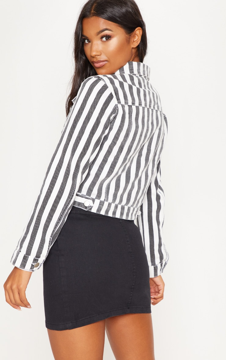 MONOCHROME STRIPE DENIM JACKET 2