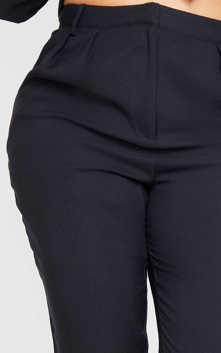 PLT Plus - Pantalon droit à taille haute en maille noire 4