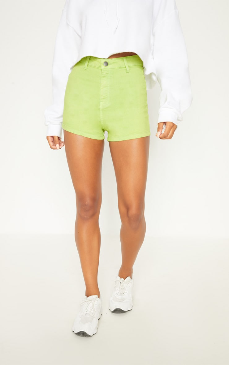 Lime Disco Shorts  2