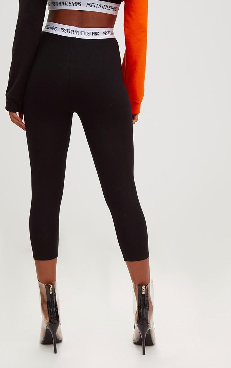 PRETTYLITTLETHING Black Cropped Leggings 4
