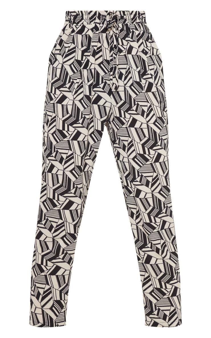 Monochrome Printed Cigarette Trouser 3